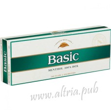 Basic Menthol 100's Gold [Pack Box]