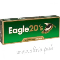 Eagle 20's Menthol Gold 100's [Box]