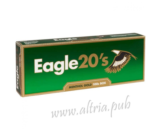 Eagle 20's Menthol Gold 100's [Box]