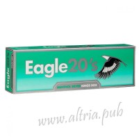 Eagle 20's Menthol Silver Kings [Box]