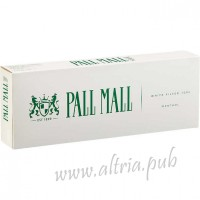 Pall Mall Menthol White Filter 100's [Box]