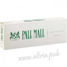 Pall Mall Menthol White Filter 100's [Box]