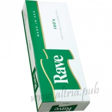 Rave Menthol Dark Green 100's [Box]