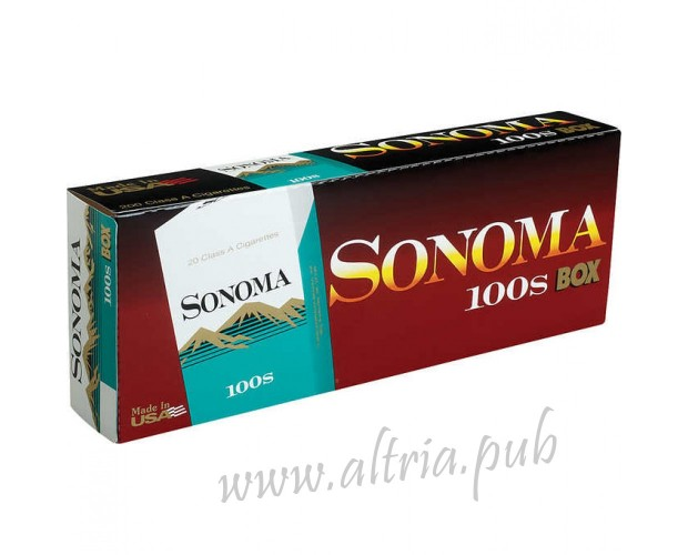 Sonoma Menthol Dark Green 100's [Box]