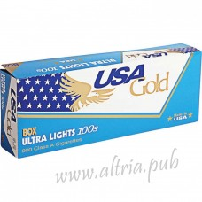 USA Gold Blue Ultra Lights 100's [Box]