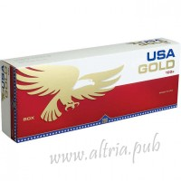 USA Gold Red 100's [Box]
